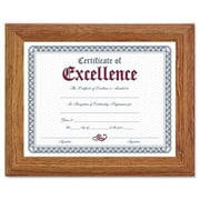 "Dax 8 1/2"" x 11"" Stepped Oak Wood Document/Certificate Frame (AZRDAX2703N8X)"