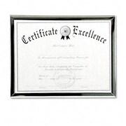 "Dax 8 1/2"" x 11"" Value U-Channel Document Frame with Certificates, Silver (AZRDAXN17002N)"