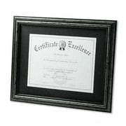 "Dax 11"" x 14"" Wood Desk/Wall Document Frame, Antique Charcoal Brushed Finish, AZRDAXN15790ST"