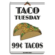 """Seaweed Surf Co Taco Tuesday Aluminum Sign, 18""""L x 12""""W (SURF288)"""