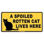 """Seaweed Surf Co Rotten Cat Lives Here Aluminum Sign, 12""""W x 18""""H (SURF205)"""
