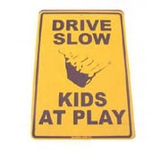 """Seaweed Surf Co Kids At Play Aluminum Sign, 12""""W x 18""""H (SURF029)"""