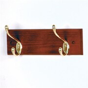 Wooden Mallet HCR-2BMH 2 Hook Coat Rack in Mahogany, Brass (WDNM192)