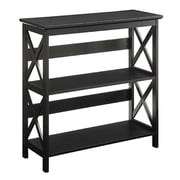 Convenience Concepts Oxford 3 Tier Bookcase, Black Finish (RTL52427)