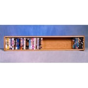 Wood Shed 108-4-W Solid Oak Wall or Shelf Mount Cabinet for DVDs/VHS Tapes/Books (WDSP054)