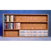 Wood Shed 308 4'W Solid Oak Wall or Shelf Mount Cabinet for DVDs/VHS Tapes/Books (WDSP059)