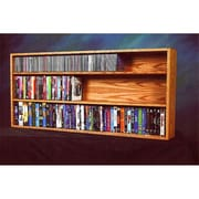 Wood Shed Solid Oak Wall- or Shelf-Mount CD/DVD/VHS/Book Cabinet (WDSP097)