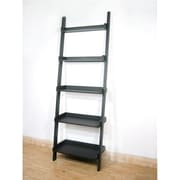 International Concepts 5-Tier Leaning Shelf, Black (INTC001)