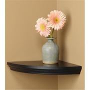 Amore Designs Wood Shelving Villages Black Corner Shelf (LTLH225)
