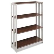 """Linea Italia Trento Line Three-Shelf Bookcase, 31 1/2""""W x 11 5/8""""D x 43 1/4""""H, Mocha (AZERTY20193)"""