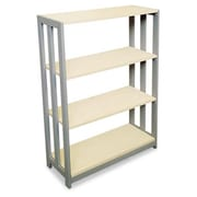 "Linea Italia Trento Line Three-Shelf Bookcase, 31-1/2""W x 11-5/8""D x 43-1/4""H, Oatmeal (AZERTY20194)"