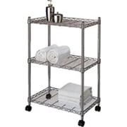 HOMEBASIX 3-Tier Storage Cart, Jumbo, Chrome (ORGL47979)