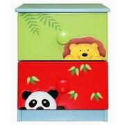 "Teamson Sunny Safari Room Collection 2 Drawer Cabinet, 15.75""L x 15.75""W x 21.625""H (TNM509)"
