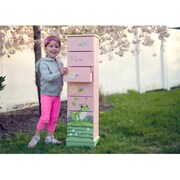 "Teamson Magic Garden Room Collection Girls' 7 Drawer Cabinet, 38.5""H x 8.8""W x 10.6""L (TMN479)"