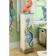"""Teamson TD-0070A Boys 5 Drawer Cabinet, Dinosaur Kingdom Room Collection, 35.25""""H x 10.5""""L x 8.5""""W (TMN463)"""