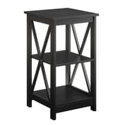 Convenience Concepts Oxford End Table with Black Finish (RTL52415)