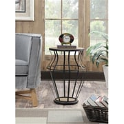Convenience Concepts Wyoming Wire and Wood End Table with Chinese Oak Veneer and Black Finish (RTL52468)