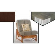 Night and Day Furniture Pocket Coil Plus Chair Mattress in Dark Brown (NADFO385)
