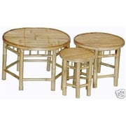 Bamboo Fifty Four Bamboo Bamboo Side Table, Walnut, Each (BMBOO169)
