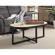 Convenience Concepts Wyoming Coffee Table with Chinese Oak Veneer/Black Finish (RTL52470)