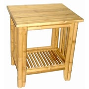 Bamboo Fifty Four Bamboo Side Table, Walnut, Each (BMBOO159)