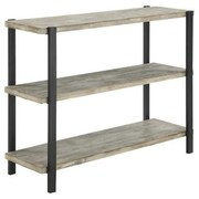 Convenience Concepts Wyoming 3 Tier Console Bookcase, China Fir and Black Matte Finish (RTL52410)