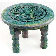 AzureGreen Round Tree Of Life Altar Table, 6in (AZRGR5795)