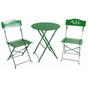 Sinochem Ningbo Ltd Green Steel Bistro Table Set (JNSN75408)