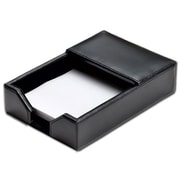 "Dacasso Memo Holder, Black Bonded Leather, 4""L x 6""W (DCSS232)"