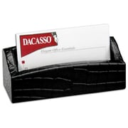 Dacasso Crocodile-Embossed Leather Business Card Holder (DCSS064)