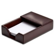 "Dacasso Memo Holder, 4"" x 6"", Bonded Leather, Dark Brown (DCSS256)"