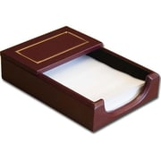 Dacasso A5609 24KT Gold Tooled Burgundy Leather Memo Holder