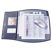 """Durable Work Pad with 3 Overlays, 17.25"""" x 15.25"""", Black (AZERTY3025)"""