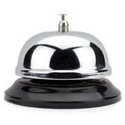 Brybelly 10cm Chrome Service Bell with Black Base (RTL59296)