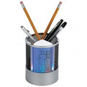 Mitaki-Japan Pen Holder with Clock/Calendar/Timer/Alarm/Temperature/Colored LED Lights (BFELPENHOLD)