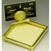 Mayer Mill Brass Golf Post-It Note Holder with Card Holder (MYRMB915)