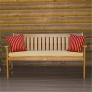 Highwood Lehigh Bench, Recycled Eco-Friendly Synthetic Wood, Toffee (HGWD079)