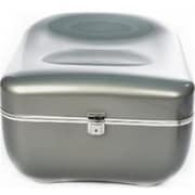 World Friendly World Storage Seating Ottoman with Key Enabled Lock, Silver, WRFW028