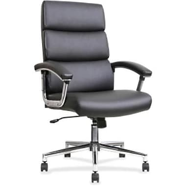 Lorell Leather Executive Office Chair Fixed Arms Black RTL156548 Staples