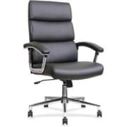 Lorell Leather Executive Office Chair, Fixed Arms, Black (RTL156548)