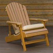 Highwood Synthetic Wood Folding and Reclining King-Size Adirondack Chair, Toffee, HGWD106