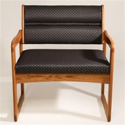 Wooden Mallet Valley Bariatric Guest Chair in Light Oak, Arch Slate, WDNM1788