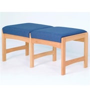 Wooden Mallet Two-Seat Bench in Light Oak/Blue (WDNM1074)