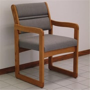 Wooden Mallet Valley Guest Chair in Medium Oak, Charcoal Grey, WDNM515