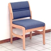 Wooden Mallet DW4-1MOVM Fabric Valley Armless Guest Chair in Medium Oak, Mocha, WDNM954