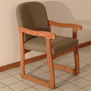 Wooden Mallet Prairie Guest Chair in Medium Oak/Arch Khaki (WDNM1286)