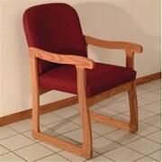 Wooden Mallet Prairie Guest Chair, Arch Wine and Medium Oak WDNM1289
