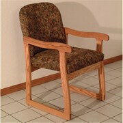Wooden Mallet DW7,1MOWE Prairie Guest Chair in Medium Oak , Watercolor Earth