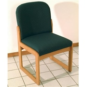 Wooden Mallet Prairie Armless Guest Chair, Medium Oak, Arch Green, WDNM1525