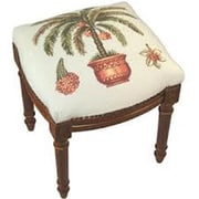 123 Creations Palm Tree Needlepoint Stool (CREATE1089)